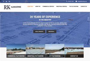 RK Flat Roofing Website